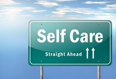 26812612 - highway signpost with self care wording